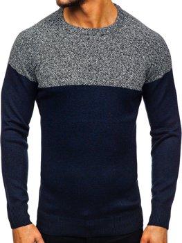 Tmavomodrý pánsky sveter Bolf H1809