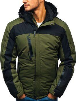 Zelená pánska lyžiarska zimná bunda BOLF HZ8112 4d83f36cf8d