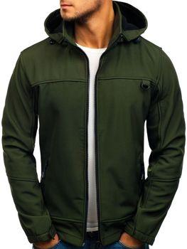 Zelená pánska softshellová prechodná bunda BOLF 82648