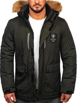 Tmavomodrá pánska zimná bunda BOLF 1790 7ab5841723c