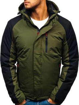 Zelená pánska zimná bunda BOLF HZ8102