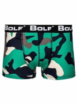 Zelené maskáčové pánske boxerky BOLF 0953-2