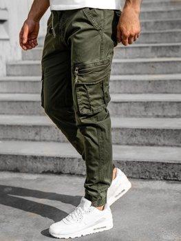 Zelené pánske kapsáčové joggery Bolf CT6707S0