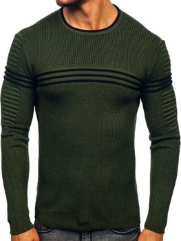 Zelený pánsky sveter Bolf 0001