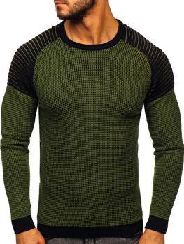 Zelený pánsky sveter Bolf 0004
