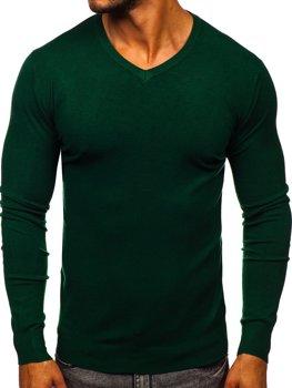 Zelený pánsky sveter s Včkom Bolf YY03