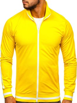 Žltá pánska mikina na zips bez kapucne retro style Bolf 2126