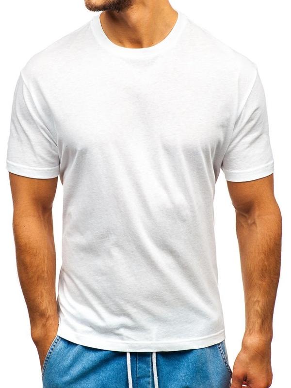 Biele pánske tričko bez potlače BOLF T1427