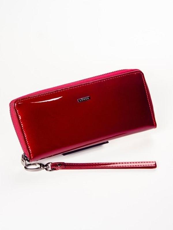 Červená dámska kožená peňaženka 1214