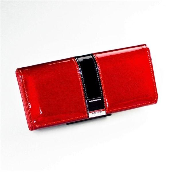 Červená dámska kožená peňaženka 1215