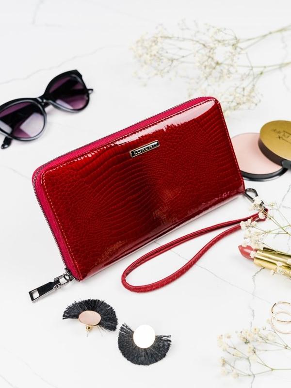 Červená dámska kožená peňaženka 2084