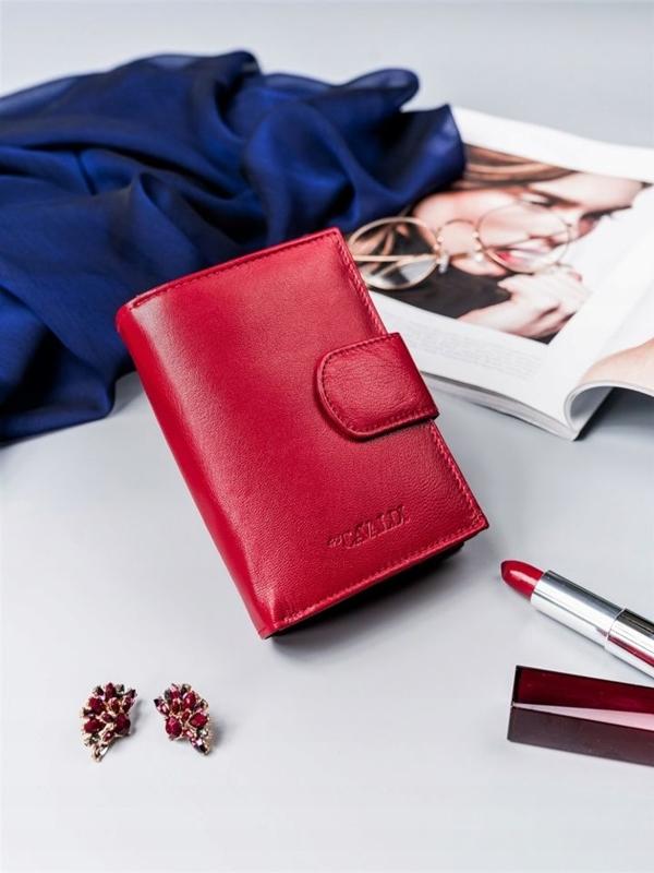 Červená dámska kožená peňaženka 2413