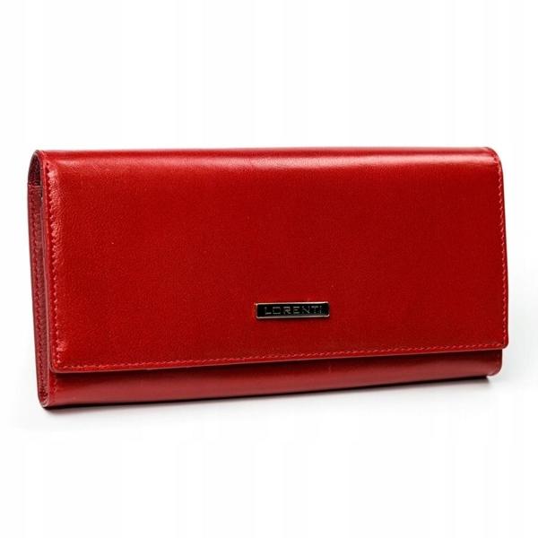 Červená dámska kožená peňaženka 2902