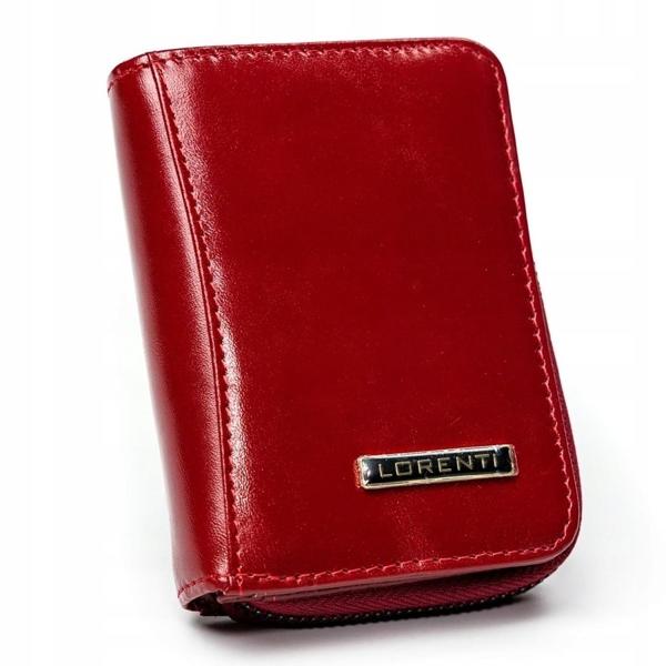 Červená dámska kožená peňaženka 2909