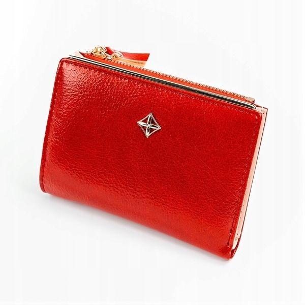 Červená dámska koženková peňaženka 1031