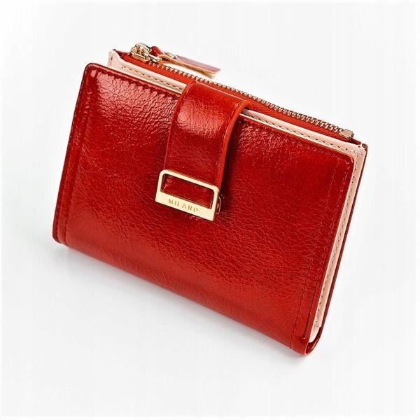 Červená dámska koženková peňaženka 1041