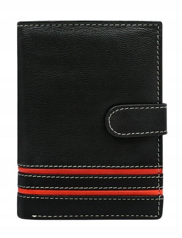 Červená pánska kožená peňaženka 583