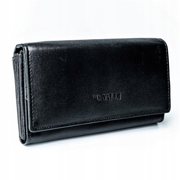 Čierna dámska kožená peňaženka 2775