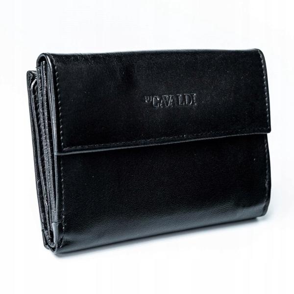 Čierna dámska kožená peňaženka 2779