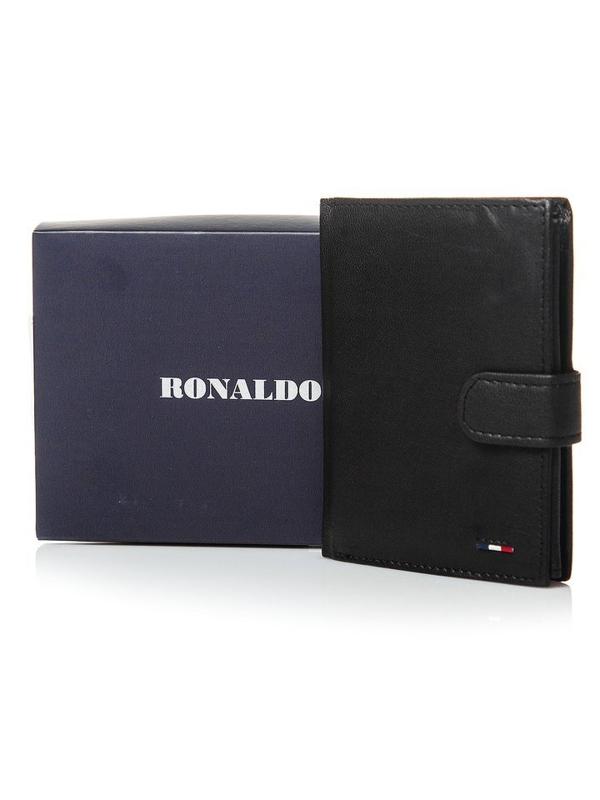 Čierna pánska kožená peňaženka 3078