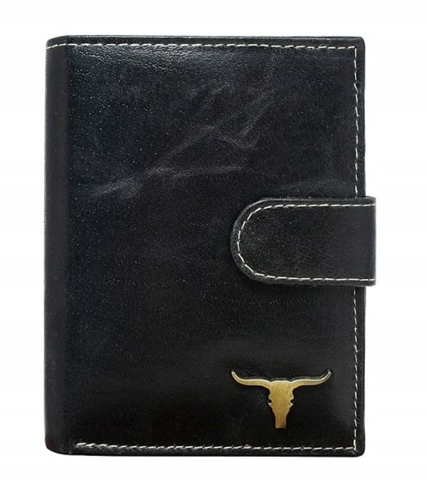 Čierna pánska kožená peňaženka 41