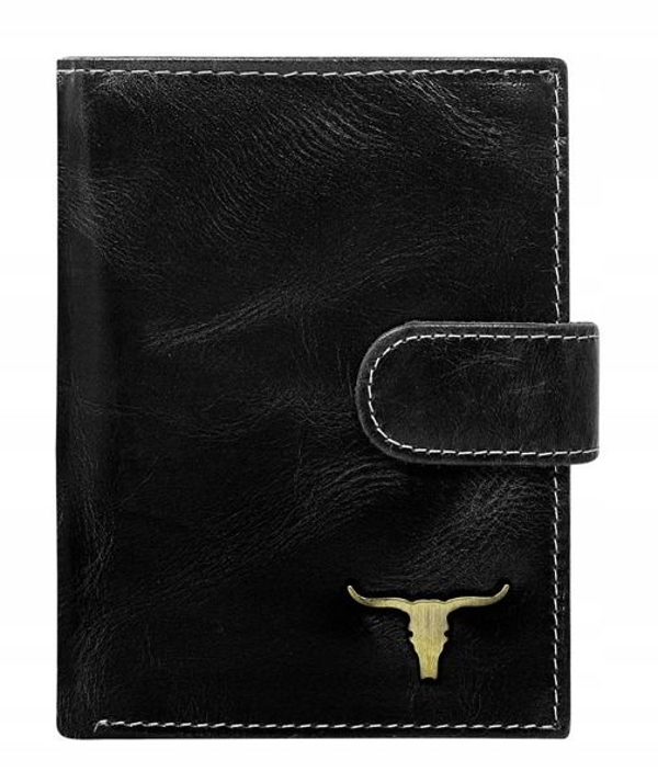 Čierna pánska kožená peňaženka 50