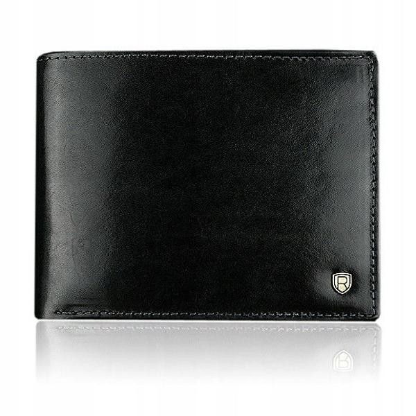 Čierna pánska kožená peňaženka 909