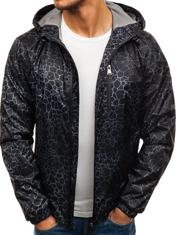 Čierna pánska prechodná bunda BOLF 8005