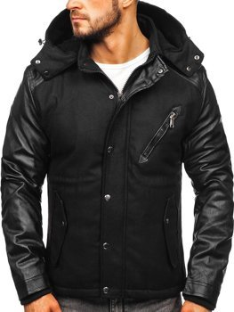 Čierna pánska prechodná bunda Bolf 3356