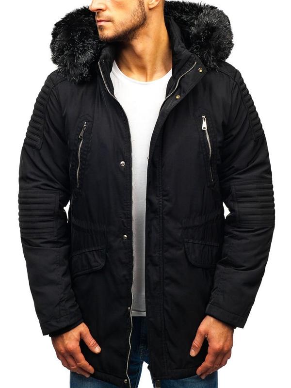 Čierna pánska zimná bunda BOLF 88859