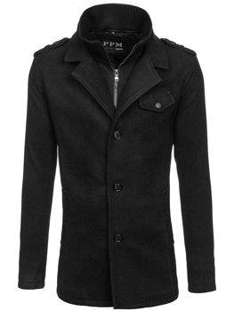 Čierny pánsky kabát Bolf 8853F