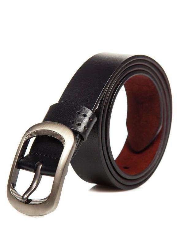 Čierny pánsky kožený opasok Bolf P012