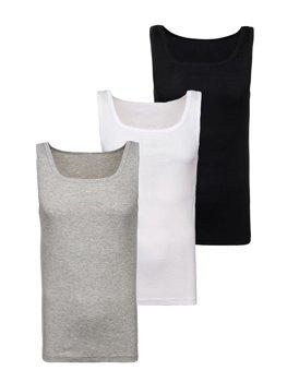 Farebné pánske tričká bez rukávov 3 ks Bolf C10010-3P