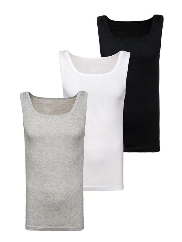 Farebné pánske tričko bez potlače BOLF C10008-3P 3 KS