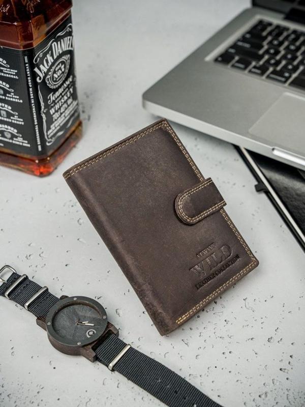 Hnedá pánska kožená peňaženka  3175