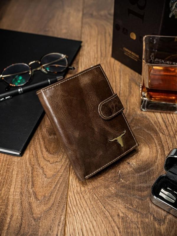 Hnedá pánska kožená peňaženka 49