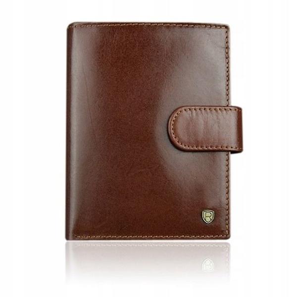 Hnedá pánska kožená peňaženka 924