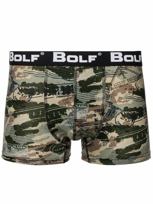 Khaki maskáčové pánske boxerky BOLF 0953-5