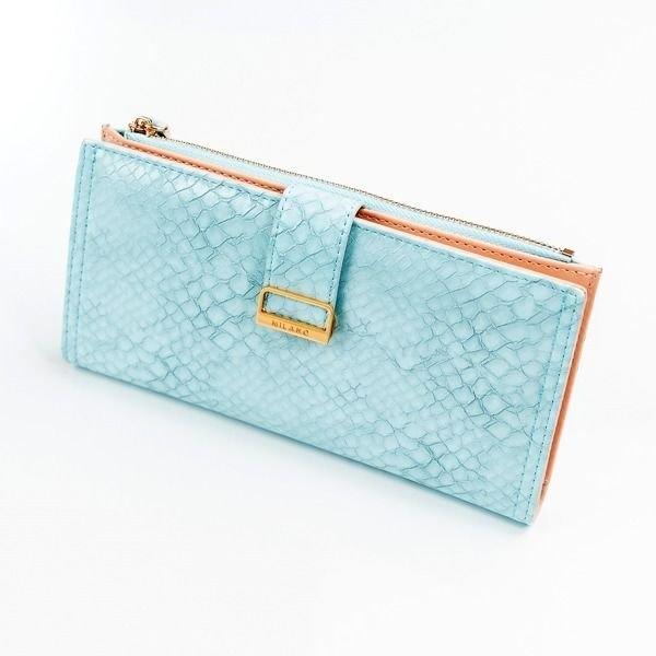 Modrá dámska koženková peňaženka 1040