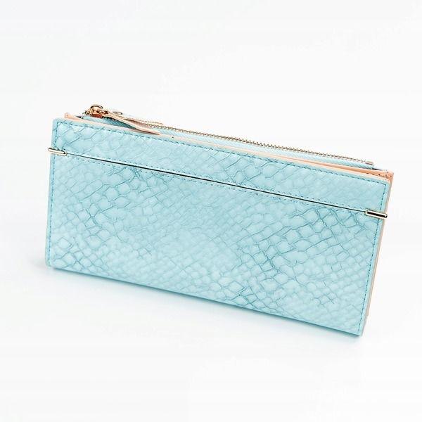 Modrá dámska koženková peňaženka 1050