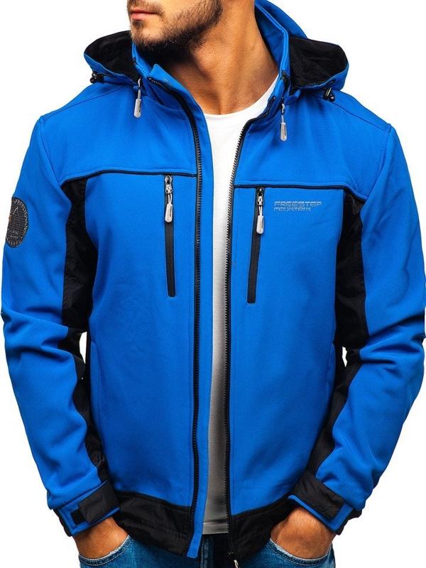Modrá pánska softshellová bunda BOLF 5527