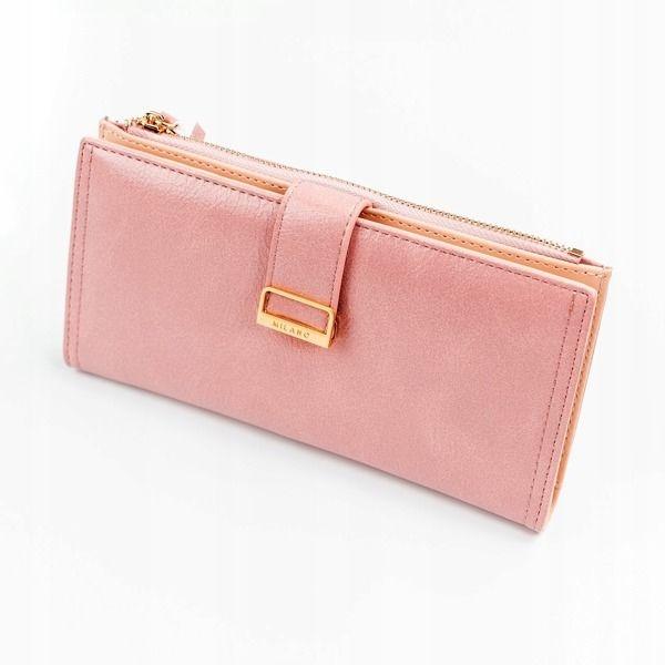 Ružová dámska koženková peňaženka 1037