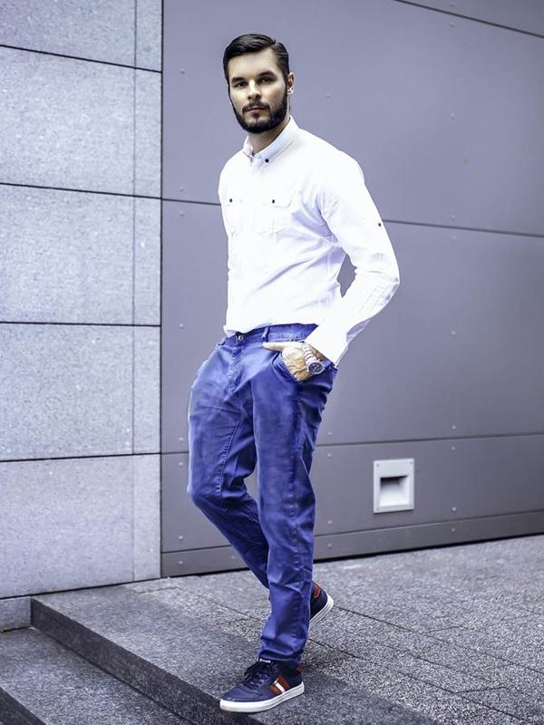 Stylizace č.280 - hodinky, elegantní košile, chino kalhoty, obuv