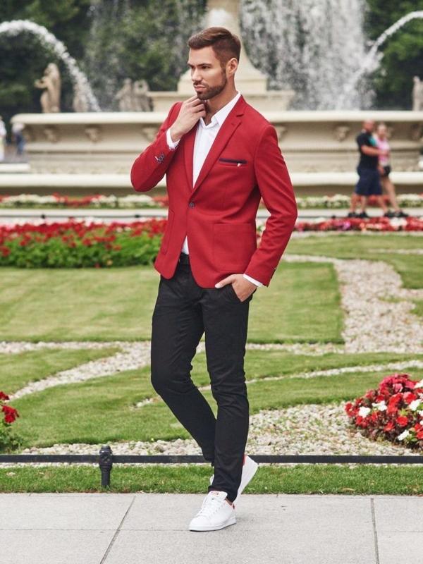 Stylizace č. 302 - ležérní sako, elegantní košile, chino kalhoty