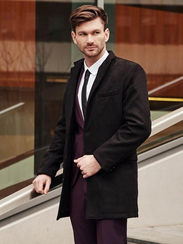 Štylizácia č. 383 - elegantný kabát, oblek, elegantná košeľa, kravata