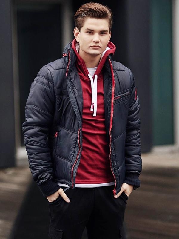 Štylizácia č. 390 - hodinky, zimná bunda ,mikina s kapucňou, nátelník, jogger nohavice