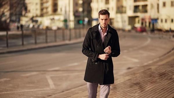 Štylizácia č. 418 - kabát, biznisová košeľa, chinos nohavice
