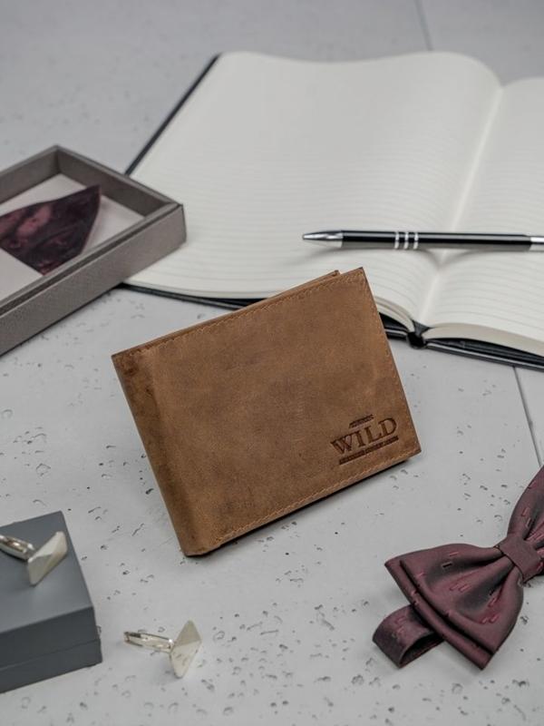 Svetlohnedá pánska kožená peňaženka 3183