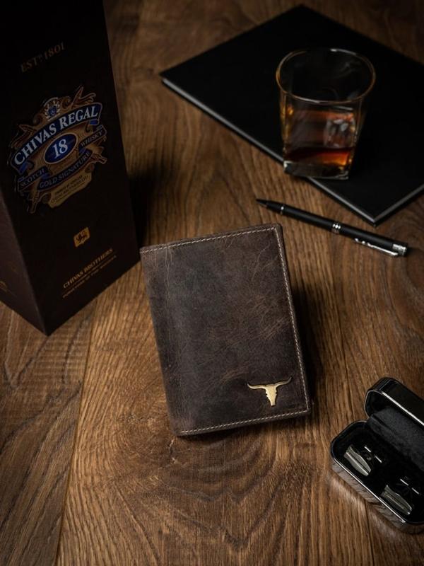 Svetlohnedá pánska kožená peňaženka 494