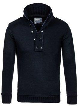 Tmavmodrý pánsky sveter BOLF 1132